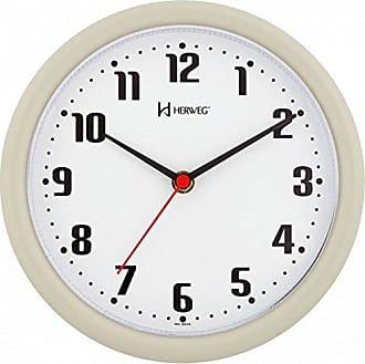 Uhren Herweg RELÓGIO DE PAREDE ANALÓGICO MODERNO MECANISMO STEP HERWEG CINZA