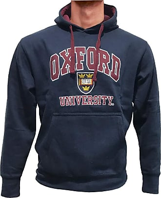 Oxford University Official Licensed Embroidered Hoodie Long Sleeve Unisex Mens Womens Pullover + One Free T-Shirt (X-Large, Navy)