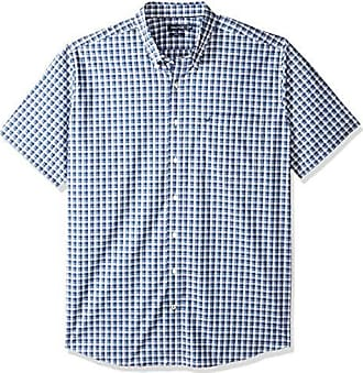 Nautica Wrinkle Resistant Short SLV Print Pattern Button Down Shirt