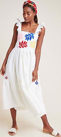 Carolina K Embroidered Linen Dress