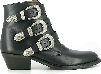 4f5c4d2de8e Jonak Boots cuir style santiag Dyza - JONAK - Noir
