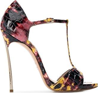 Casadei embossed stiletto sandals - Black