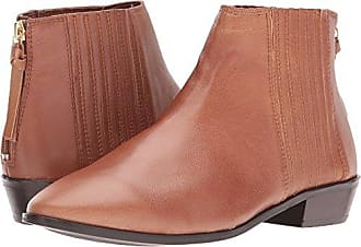 Kenneth Cole Reaction Womens Loop-y Flat Ankle Bootie Finger Gusset Leather, tan, 9 M US