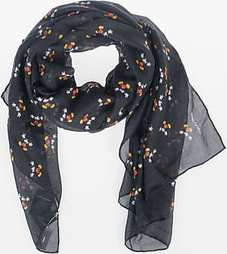 Saint Laurent DISNEY 135x135cm Mickey Mouse Embroidered Foulard size Unica