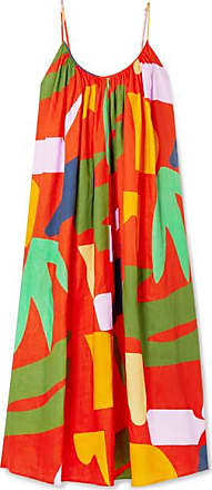 Mara Hoffman Fiona Printed Organic Linen Maxi Dress - Orange