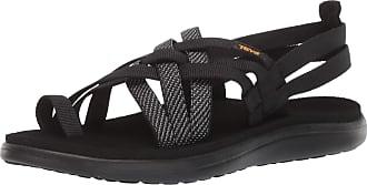 Teva Voya Strappy, Women Heels Sandals Open Toe Sandals, Black (Hera Black Hbk), 8 UK (41 EU)