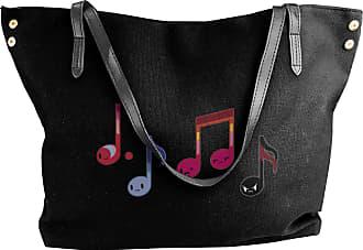 Juju Funny Music Notes Womens Classic Shoulder Portable Big Tote Handbag Work Canvas Bags