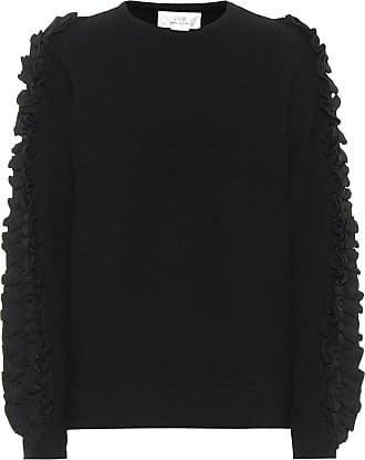 Victoria Beckham Ruffle-trim stretch-cotton sweater