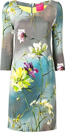 Blumarine Vestido floral - Cinza