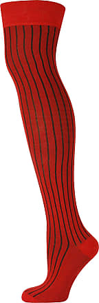 MySocks Unisex Over the Knee High Socks Ribbed Red 5-9