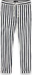 Scotch & Soda Warren Herringbone Stripe Drawstring Hose - Waist 31 | cotton | dark | Stone - Dark