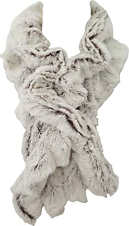 Lina & Lily Twist Stretchy Faux Fur Womens Winter Scarf Neck Warmer (White/Brown)