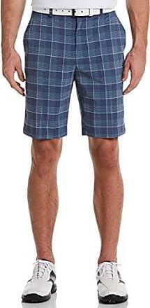 PGA TOUR Short court à carreaux pour hommes, indigo teint en fil, 40
