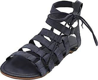 Damen Gladiator Romer Sandalen Flats Sandaletten Sommerschuhe Strandschuhe Schuh