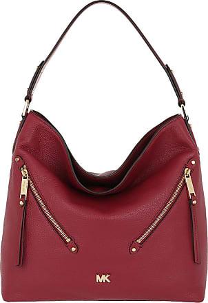 Michael Kors Hobo Bags - Evie LG Hobo Bag Maroon - red - Hobo Bags for ladies
