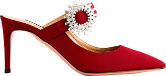Aquazzura Sapato Crystal Blossom 75 Vinho - Mulher - 38.5 IT