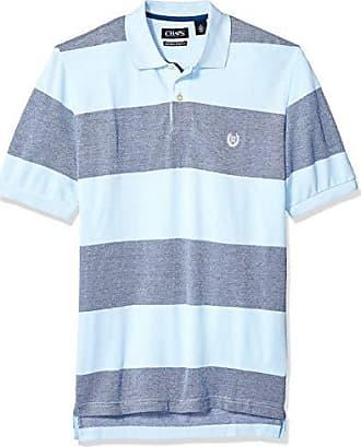 023e79d5708 Chaps Mens Classic Fit Cotton Pique Polo Shirt, Pool Blue Multi, L