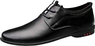 ICEGREY Mens Dress Shoes Business Cowhide Leather Breathable Casual Slip On Loafers Black 2,10.5