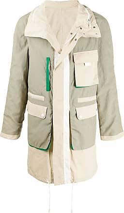 Yves Salomon reversible colour-block jacket - NEUTRALS