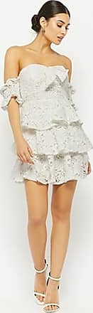 Forever 21 Forever 21 Tiered Off-the-Shoulder Lace Dress White
