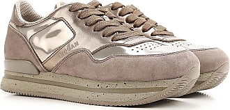 Hogan Sneaker für Damen, Tennisschuh, Turnschuh Günstig im Sale, Goldenes Beige, Wildleder, 2019, 35 35.5 36 36.5 37 37.5 38.5