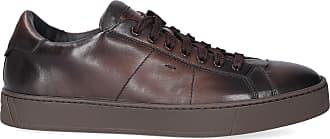 Santoni Low-Top Sneakers 20850 calfskin Logo brown