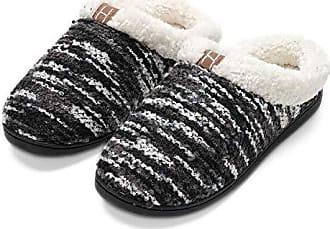 Herren Warm Hausschuhe Filz Fell Gefüttert Winter Pantoffeln Schafwolle Slippers