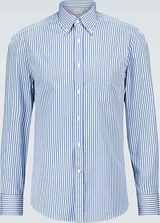 Brunello Cucinelli Gestreiftes Hemd aus Baumwolle