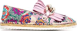 Casadei floral embroidered espadrilles - Rosa
