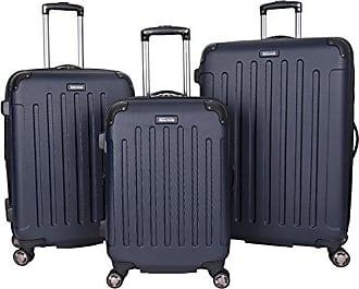 Kenneth Cole Reaction Kenneth Cole Reaction Renegade 8-Wheel Hardside Expandable 3-Piece Set: 20 Carry-On, 24, 28 Luggage, Navy