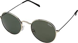 Quay Eyeware Mod Star (Gold/Green) Metal Frame Fashion Sunglasses