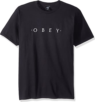 Obey Mens Novel SS Basic TEE T-Shirt, Black, S