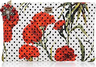 Dolce & Gabbana Floral Printed Brocade Pouch Größe Unica
