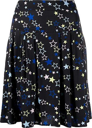 Love Moschino Minissaia com pregas e estampa de estrela - Preto