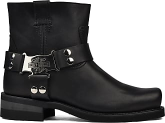 50fb8563788b Harley-Davidson IROQUOIS LO Mens Black Leather Square Toe Biker Boots  ORIGINAL (UK 12