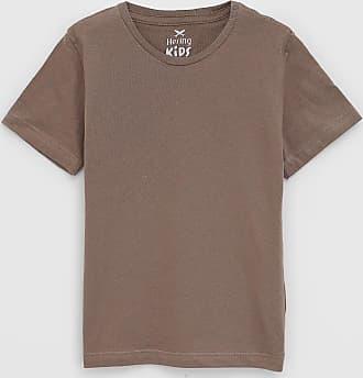 Hering Kids Camiseta Hering Kids Infantil Lisa Marrom