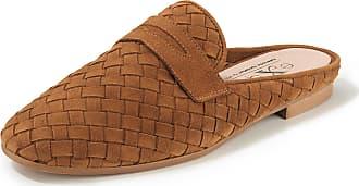 Peter Hahn Plaited sandals a decorative tab Peter Hahn exquisit brown