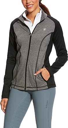 Ariat Womens Freja Full Zip Jacket Long Sleeve in Charcoal Heather, Size X-Small, by Ariat