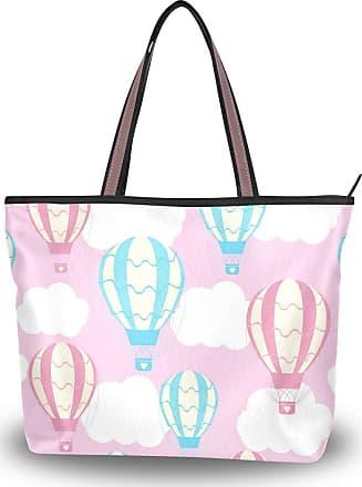 Lorona Women Balloons Pattern Pink Canvas Shoulder Hand Bag Large Capacity Tote Bag