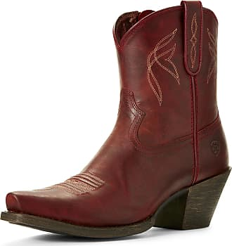 Ariat Womens Lovely Western Boots in Grenadine Leather, B Medium Width, Size 4.5, by Ariat