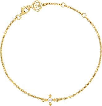 Zoe & Morgan Izil Armband Natural White Zircon Gold - one size | gold plated sterling silver | gold | White - Gold/Gold