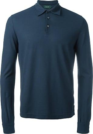 Zanone longsleeved polo shirt - Blue