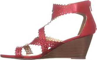 xoxo Womens Satisha Open Toe Casual Espadrille Sandals, Red, Size 5.5
