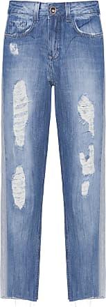 Shoulder Calça Jeans Reta Faixa Lateral Shoulder - Azul