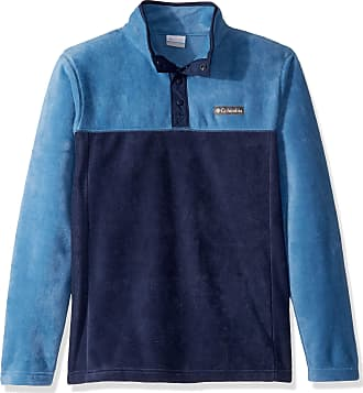 Columbia Mens Steens Mountain Half Snap Fleece Jacket, Collegiate Navy, Scout Blue, X-Large