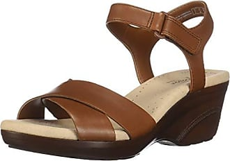 0a4f6c93583 Clarks Womens Lynette Deb Sandal Mahogany Leather 065 W US