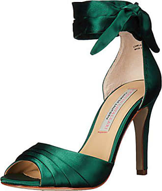 Chinese Laundry Womens Lilac Dress Sandal, Dark Green Satin, 7.5 M US