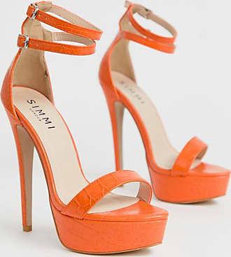 Simmi London Simmi London - Scandal - Sandali arancioni effetto coccodrillo con plateau-Arancione