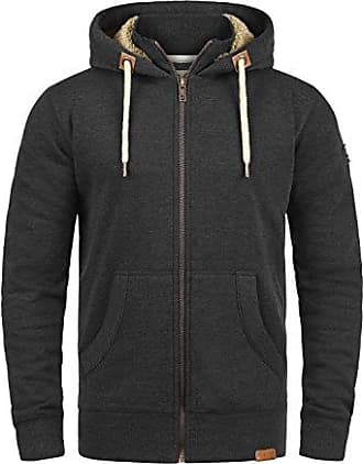 Sweatjacke ARCTIC mit Kapuze schwarzgrau S-XXL Sherpa Jacke mit Futter Hoodie