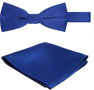Jacob Alexander Solid Color Mens Bowtie and Hanky Set - Royal Blue